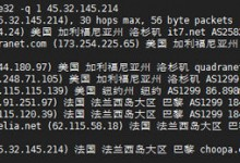 Linux VPS实用工具 - Best Trace路由追踪测试Linux版使用-贝壳主机网
